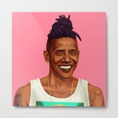 Hipstory - Barack Obama Metal Print