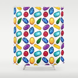 Colorful Minerals Pattern Shower Curtain