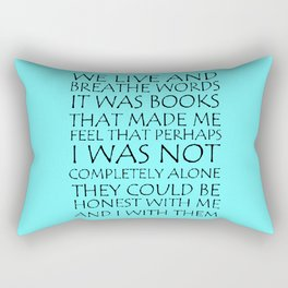 We Live And Breathe Words Rectangular Pillow