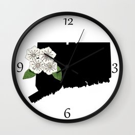 Connecticut Silhouette Wall Clock