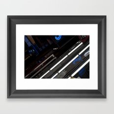 Blue & White Framed Art Print