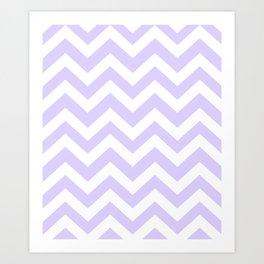 Pale lavender - grey color - Zigzag Chevron Pattern Art Print