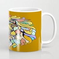 metallic Mugs featuring Metallic Lion by J&C Creations