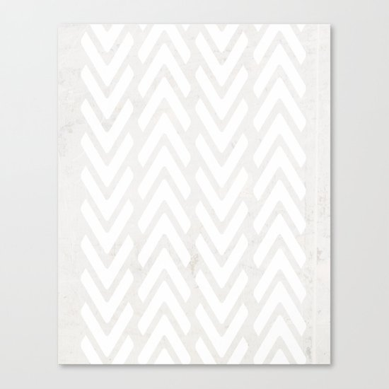 Chevron Tracks Canvas Print