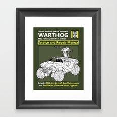 Warthog Service and Repair Manual Framed Art Print