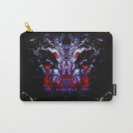 Psycho - Satanic Nightmares with Lightening Bugs Leading the way in Darkness by annmariescreations Carry-All Pouch