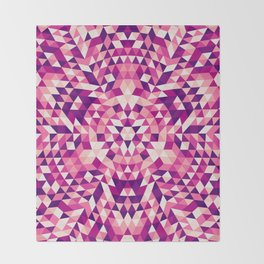 Triangle mandala 1 Throw Blanket