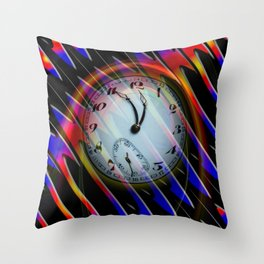 Abstract - Perfection- Time is running Throw Pillow
