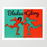 will ferrell Art Prints featuring Blades of Glory by Derek Eads