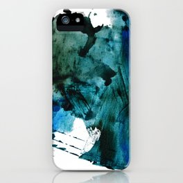 Scenic Route: a pretty, minimal abstract piece in blue and green by Alyssa Hamilton Art iPhone Case