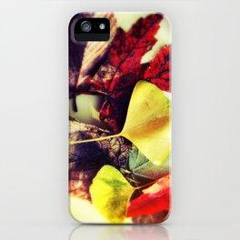 Leaf Mix Scattered I iPhone Case