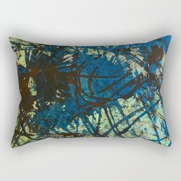 Thistles in Blues Greens  Rectangular Pillow