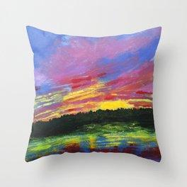 Color Me Crazy Throw Pillow