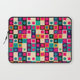 Geometric pattern with shapes Laptop Sleeve