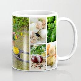 Garden Vegetable Collage - Kitchen or Restaurant Decor Coffee Mug