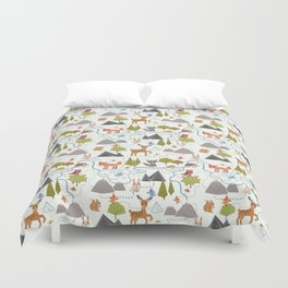 Funny Forest Map Duvet Cover