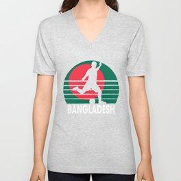 Bangladesh Soccer Football BGD Unisex V-Neck