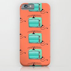 Television (aqua tangerine) Slim Case iPhone 6s