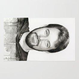 Commander William Riker TNG Sci-fi Portrait Rug