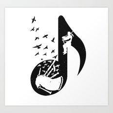 Musical - bagpipes Art Print