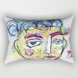 She is imperfect, but she tries Rectangular Pillow