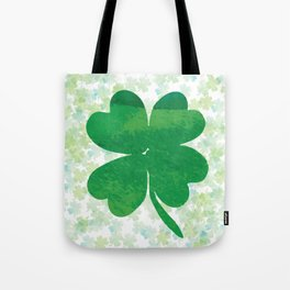Lucky Watercolor Clovers Tote Bag