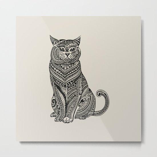 Polynesian British Shorthair cat Metal Print