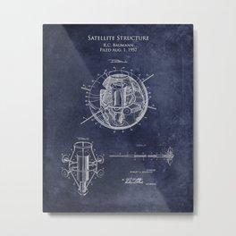 1950s Satellite Patent Print Metal Print