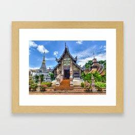 Chiang Mai Thailand Buddhist Temple Framed Art Print