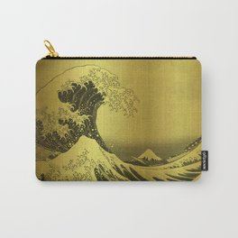 Golden Japanese Great Wave off Kanagawa by Hokusai Carry-All Pouch