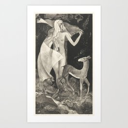 Aan de bron (1908 –1939) by Adriaan J. van 't Hoff Art Print