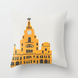 Liver Building Liverpool Throw Pillow