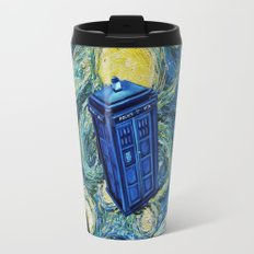 Tardis Dr. Who Starry Night Travel Mug