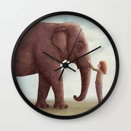One Amazing Elephant - Back Cover Art Wall Clock