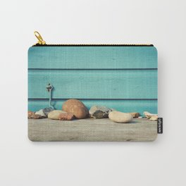 Beach Hut Stones Carry-All Pouch