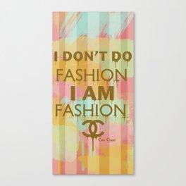 Fashion Typography Canvas Print