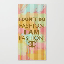 Fashion Typography Canvas Print