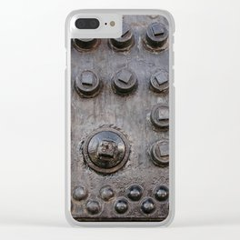 steam engine detail Clear iPhone Case