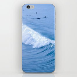 Waiting for the Perfect Wave iPhone Skin