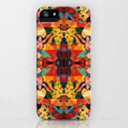 Kaleidoscopic Floral  iPhone Case