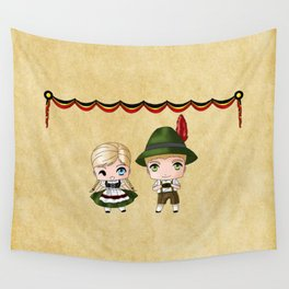 German Chibis Wall Tapestry