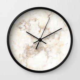 Marble Natural Stone Grey Veining Quartz Wall Clock