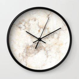 Marble Natural Stone Grey Veining Quartz Wall Clock