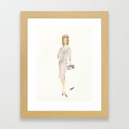 Coco and the Pillbox Hat Framed Art Print