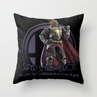 super smash bros Throw Pillows featuring Ganondorf - Super Smash Bros. by Donkey Inferno