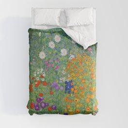 Gustav Klimt Flower Garden Floral Art Nouveau Comforters