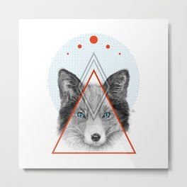 Fox of Tricks Metal Print