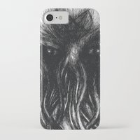 "cthulu iPhone & iPod Cases featuring Cthulu ""He is Risen"" H.P. Lovecraft by judgehydrogen"