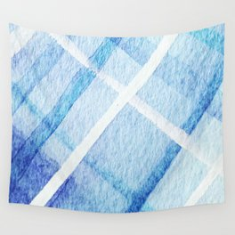 Watercolor Blues Wall Tapestry