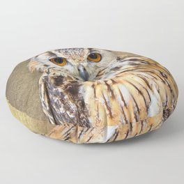Indian Eagle Owl Floor Pillow